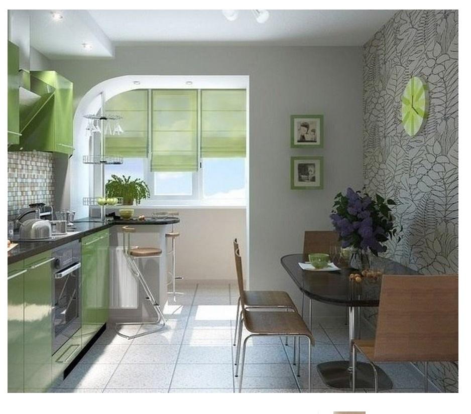 Как оформить кухню, совмещенную с балконом.