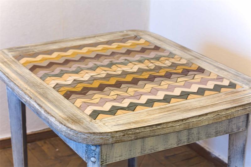 Мозаика на деревянную поверхность