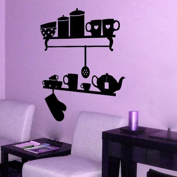 Рисунки на стенах своими руками на кухню