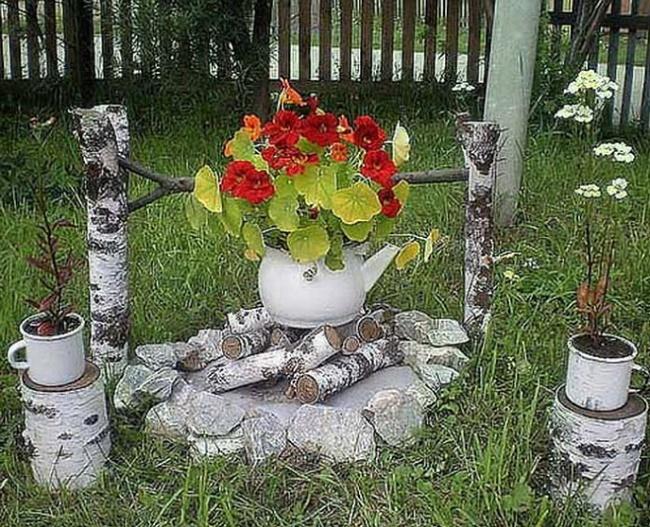 Декор около дома