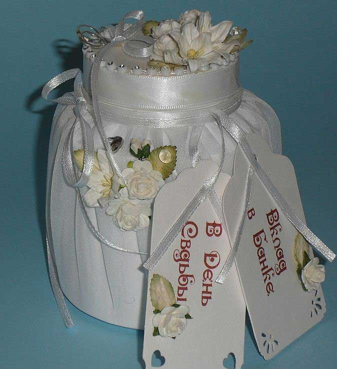 Банк для подарков на свадьбу своими руками