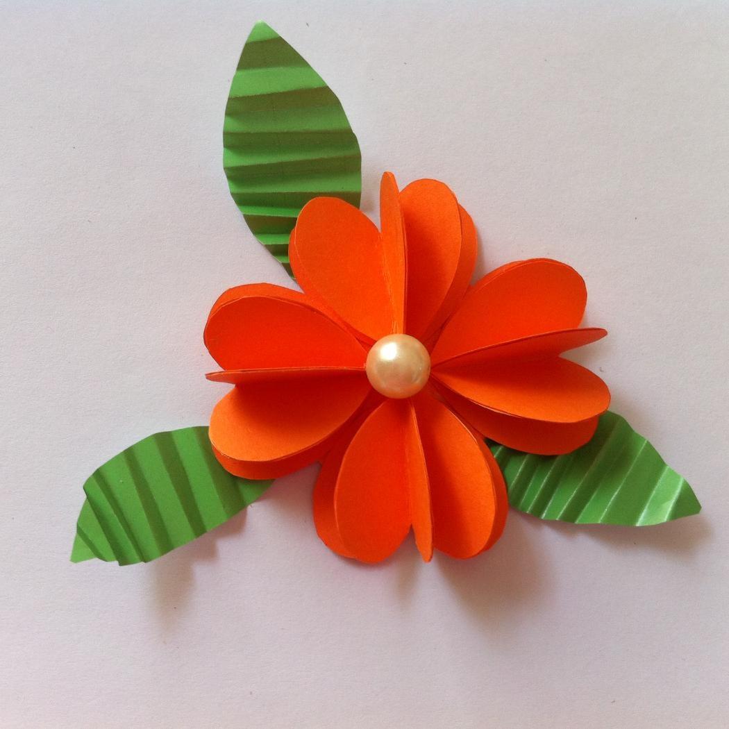 Цветы из цветной бумаги легкие