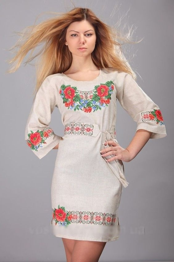Вышиванка платья