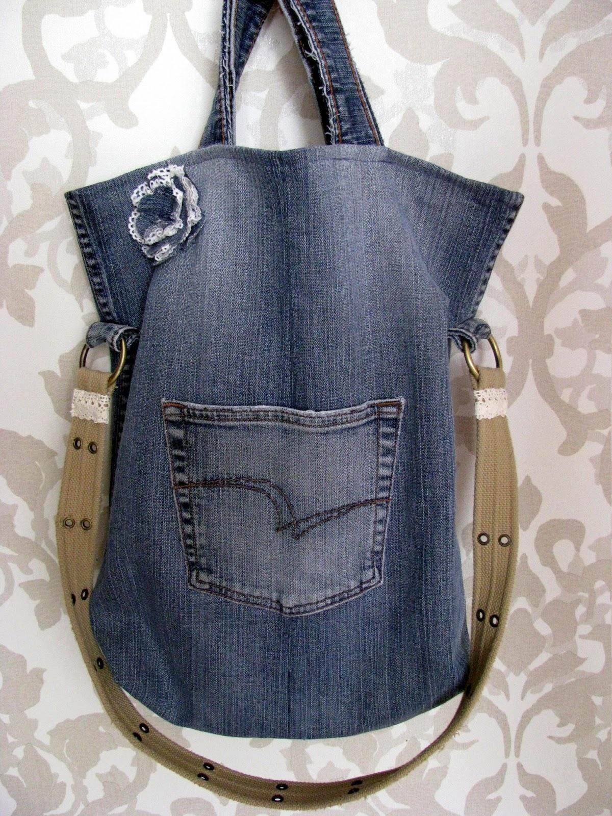 Сумка хозяйственная из джинсов своими руками