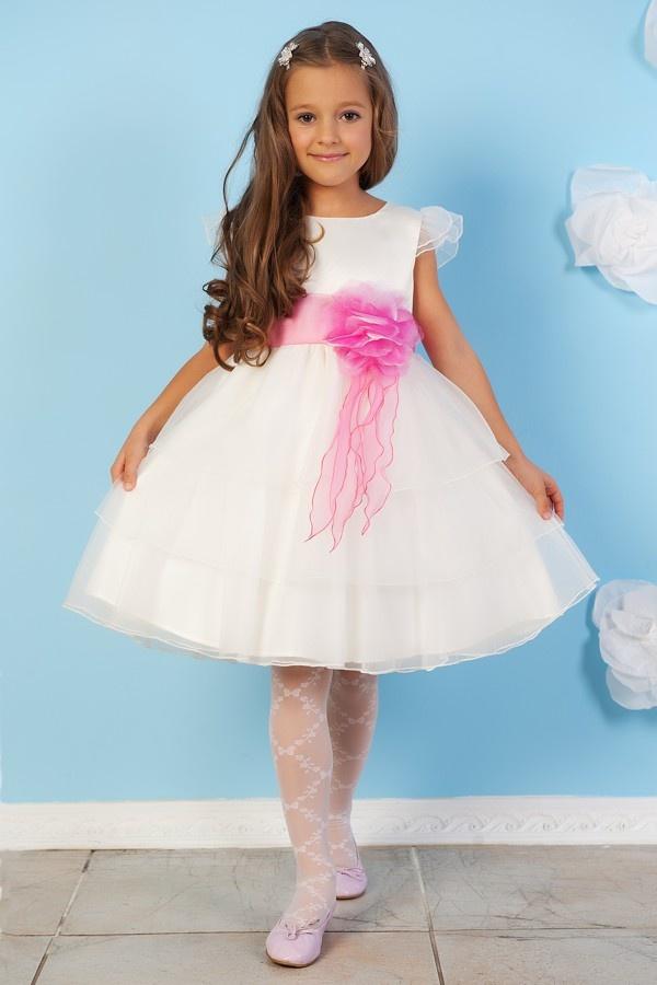 Белое платье с розовым декоративным поясом. - карточка от пользователя ok.griczencko2016 в Яндекс.Коллекциях