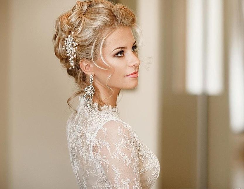 стильные прически для невесты без фаты