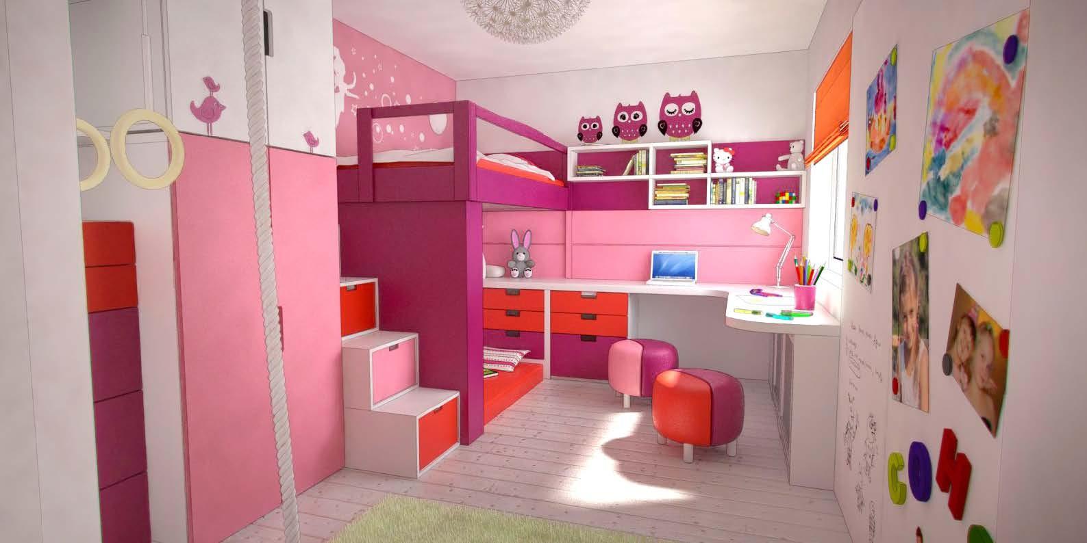 Фото дизайн интерьер детской комнаты для девочки