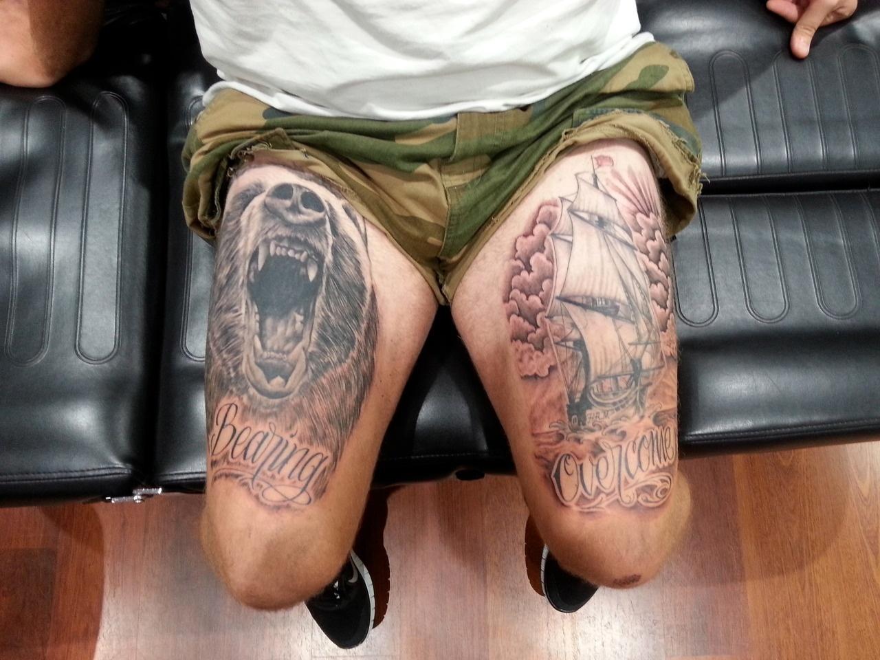 Фото тату на ногах мужские