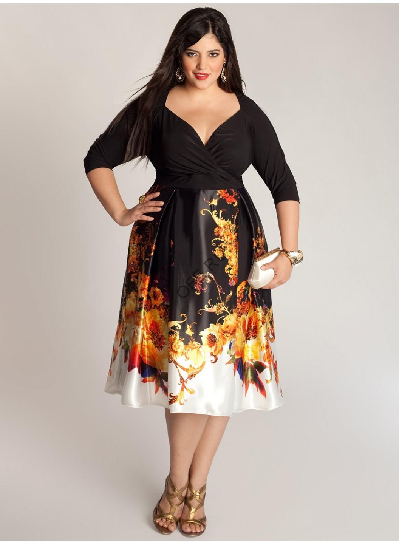 Модные нарядные платья для полных женщин