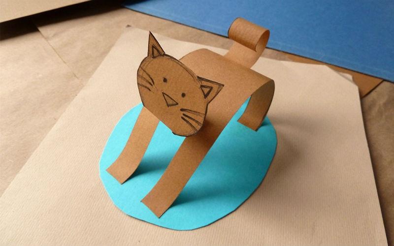 Животные поделки из бумаги