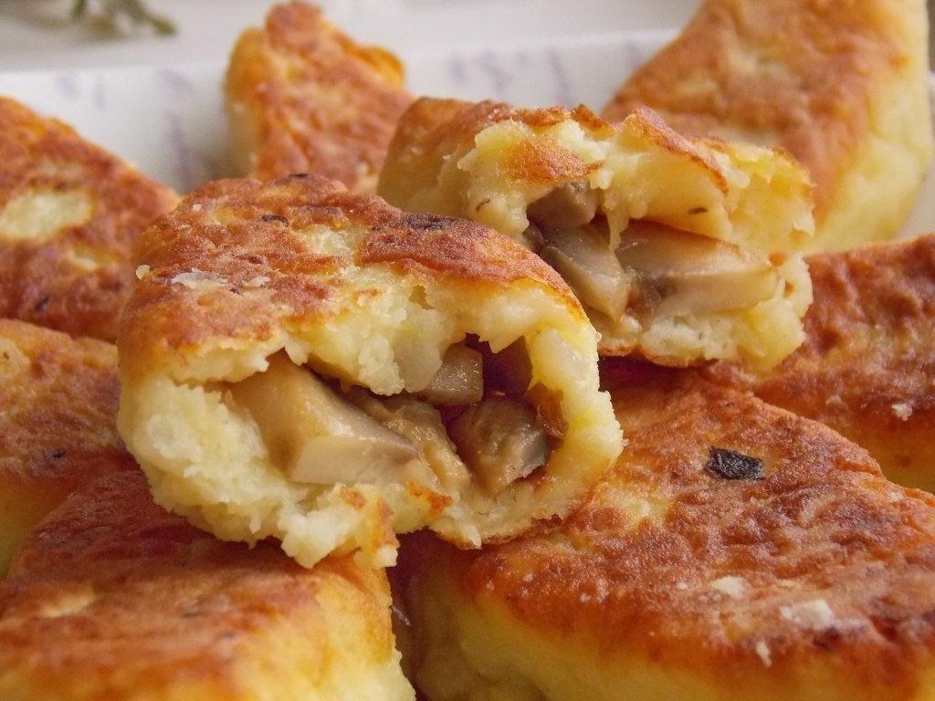 Зразы картофельные с грибами и фаршем рецепт с пошагово