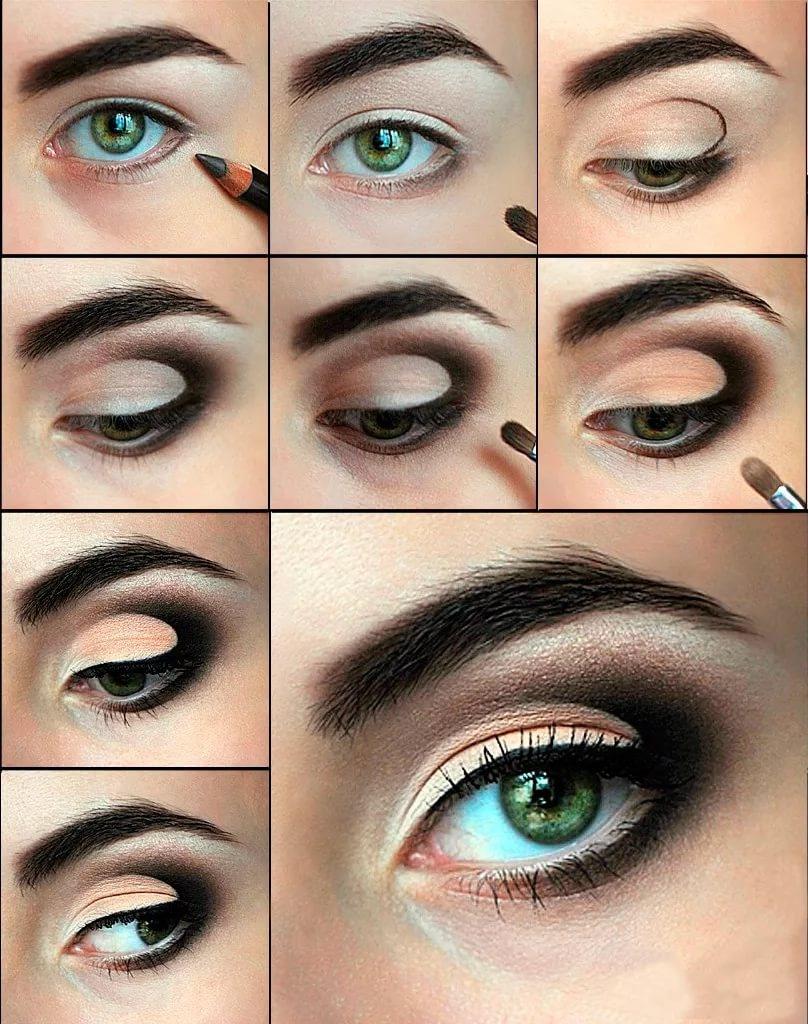 Уроки макияжа для зеленых глаз пошагово фото