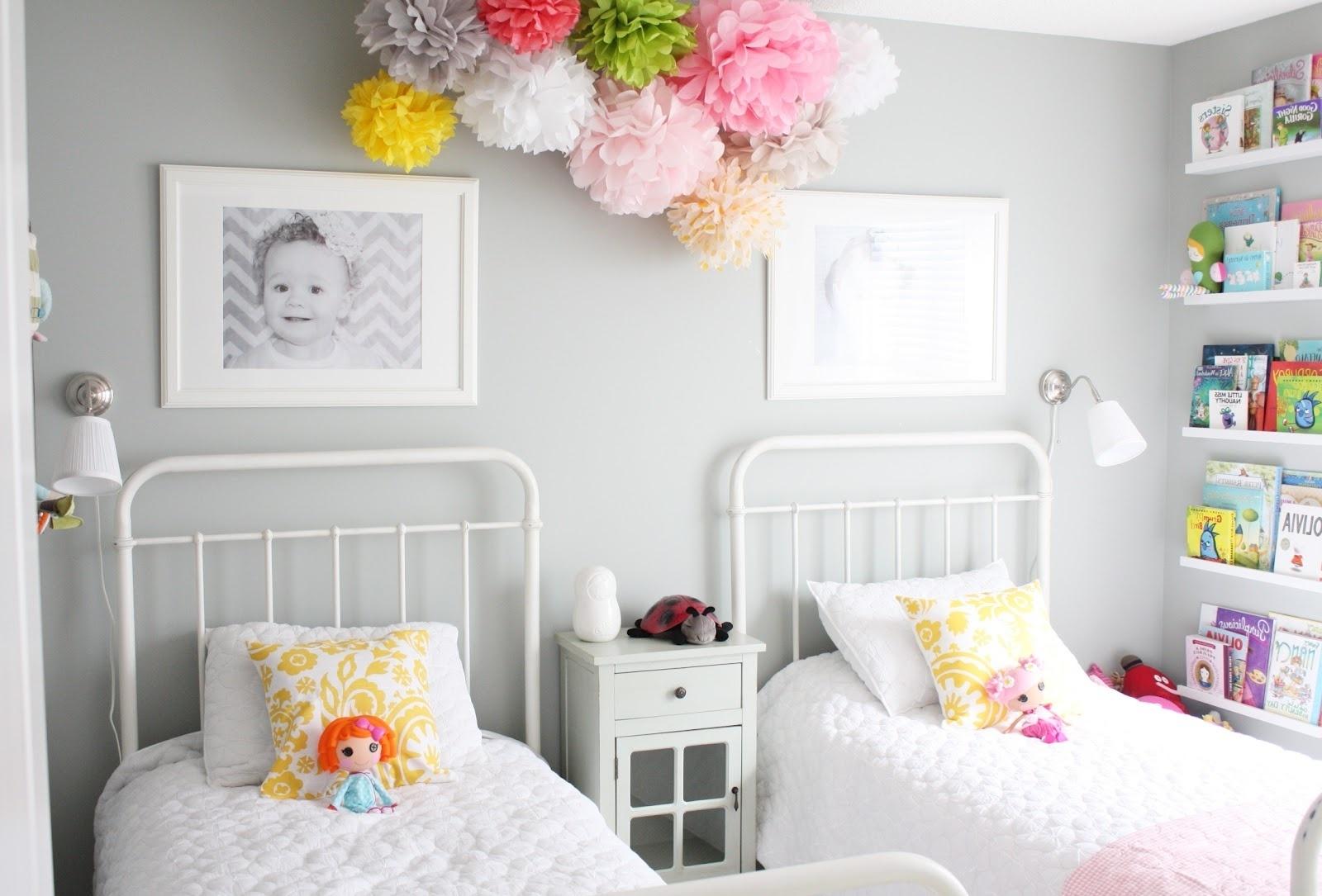 Как украсить стену в детской комнате своими руками фото