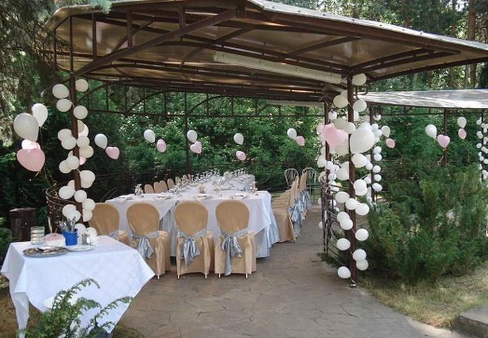 Свадебное украшение дворе своими руками