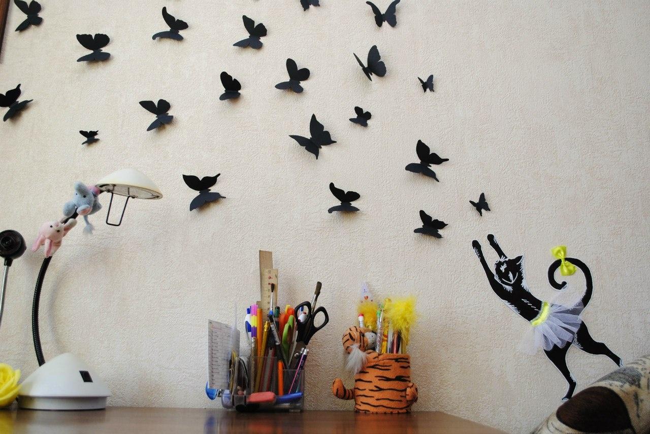 Декор для стены своими руками бабочки