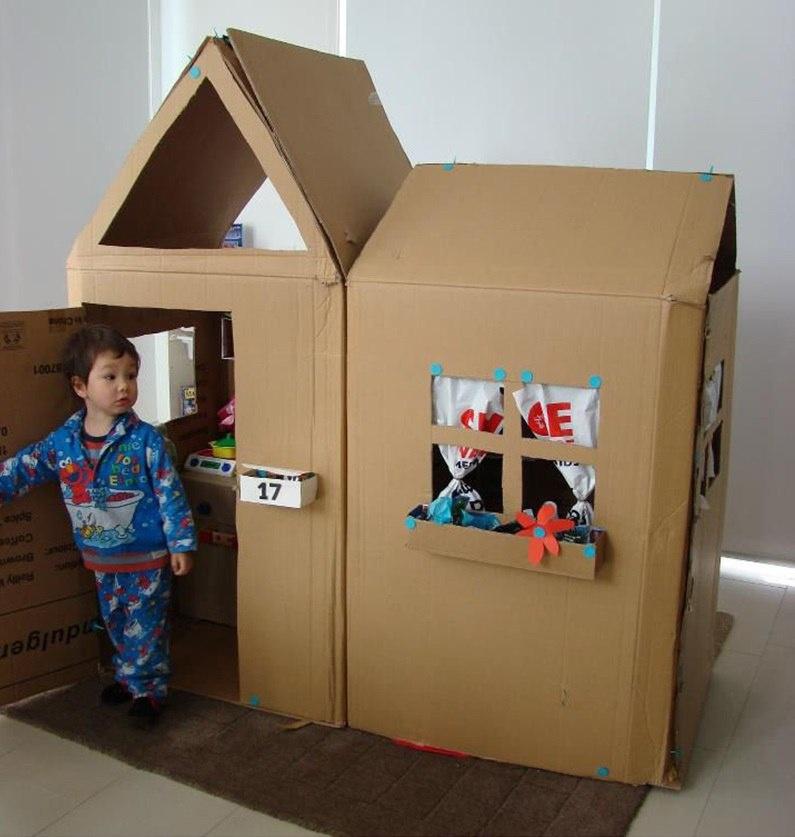 Как сделать домики из бумаги для маленьких игрушек