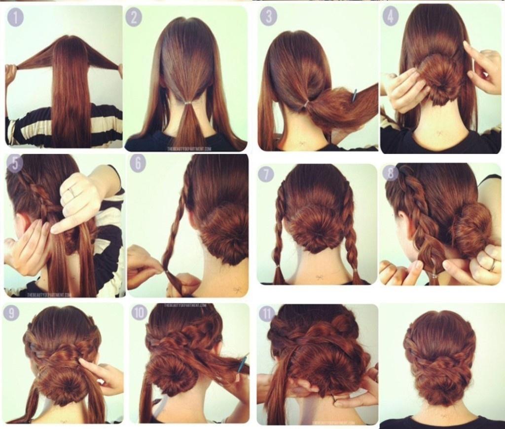 Сделать красивую прическу на длинные волосы своими руками