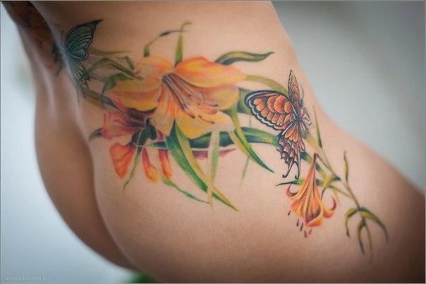 Фото картинки цветных тату