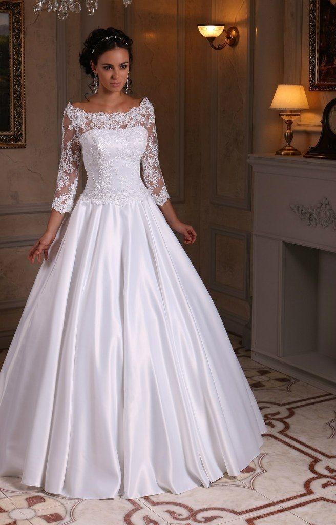 Фото свадебных платьев с рукавами