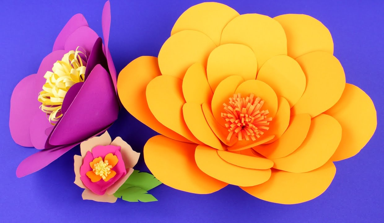 Цветок из бумаги мастер класс
