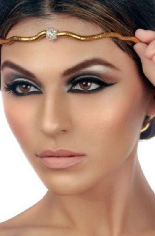 Восточный макияж для карих глаз только