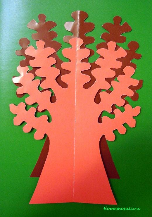 Как сделать дуб из цветной бумаги