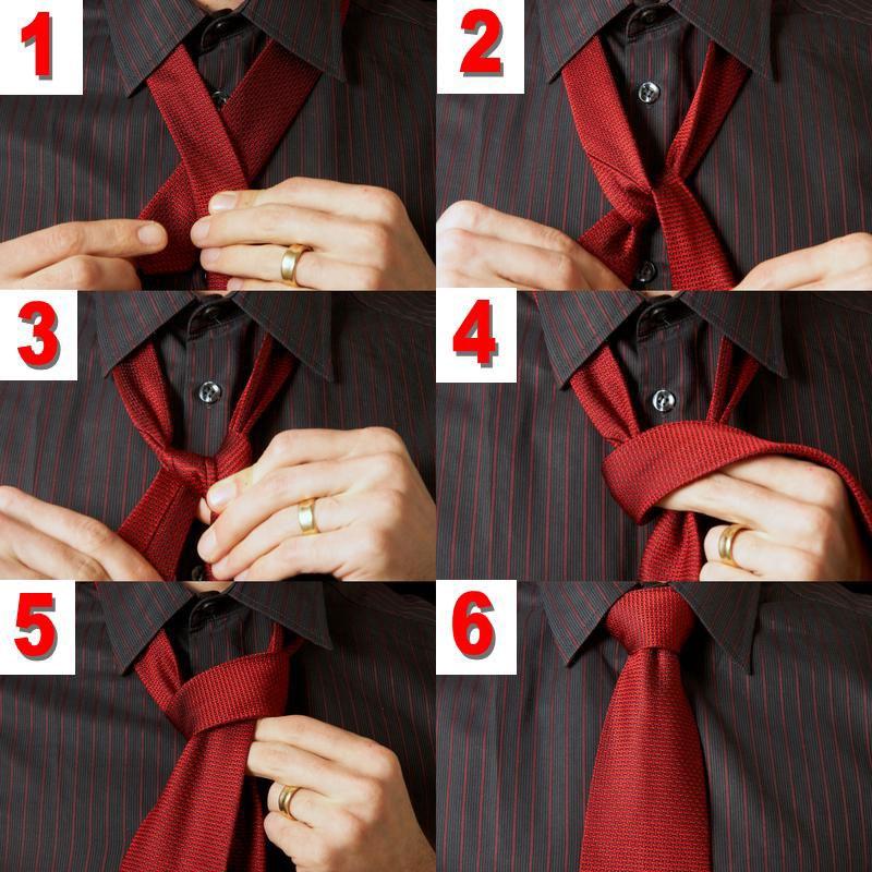 Как по шагово завязывать галстук