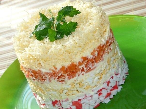 Салат нежность рецепт с с помидорами