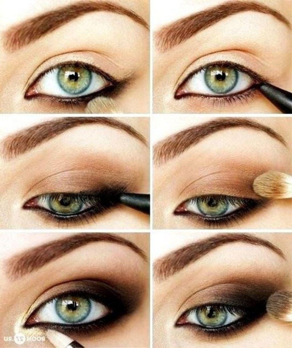 Дневной макияж для каре зеленых глаз пошаговое