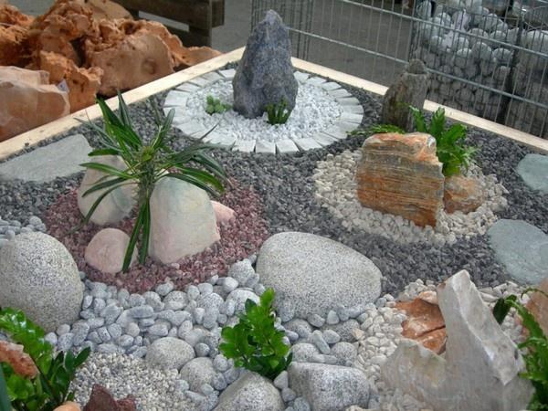 Ландшафтный дизайн с мраморной крошкой