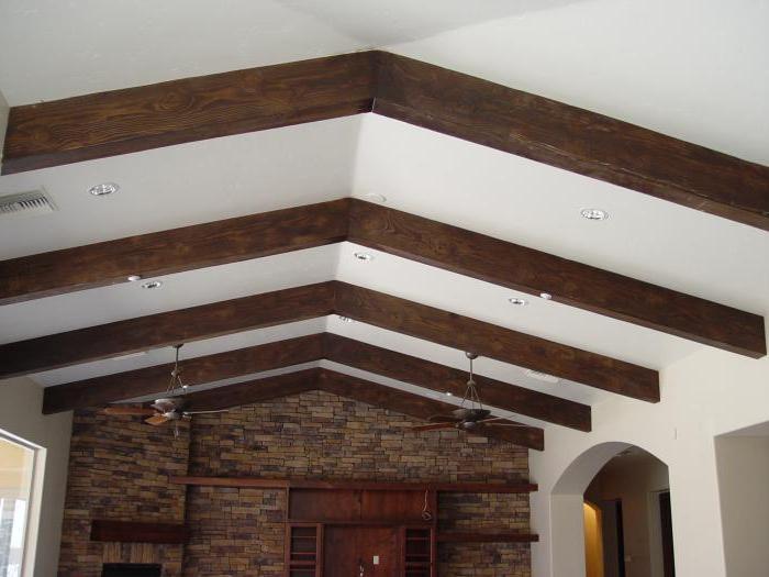 Как сделать балки на потолке