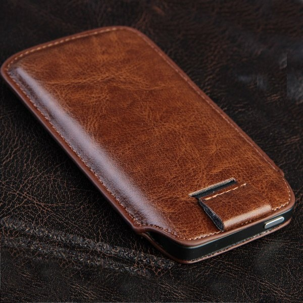 Чехол карман для телефона из кожи