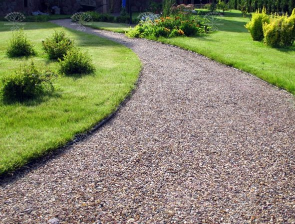 Садовые дорожки из гравия фото