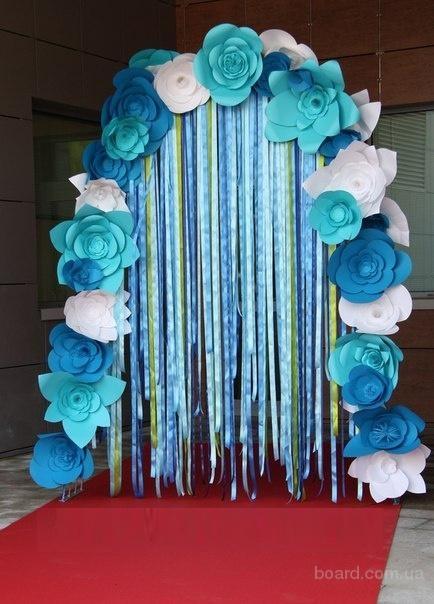 Бумажные арки на свадьбу своими руками