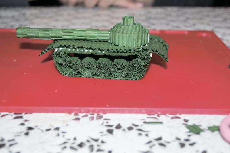 Как сделать танк из бумаги своими руками фото