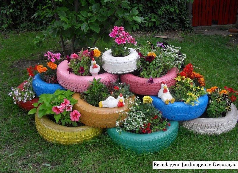 Оформление цветочного сада