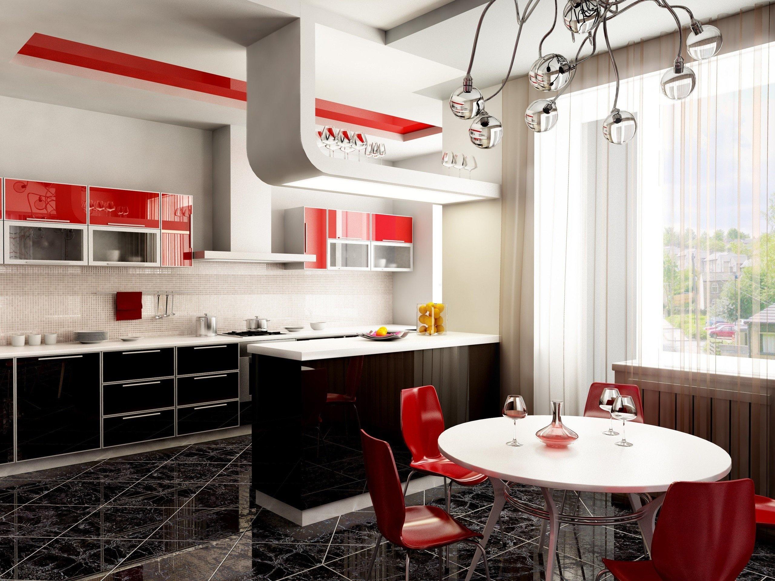 Современный дизайн кухни в доме 2017-2018