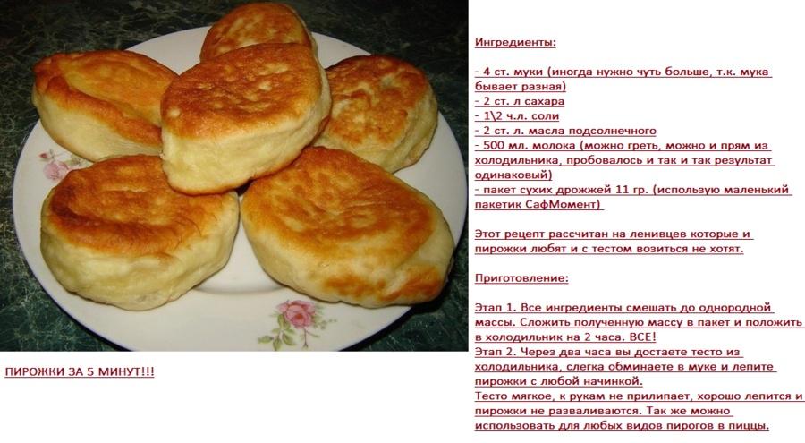 Тесто для пирожков дрожжевое на воде рецепт с фото пошагово
