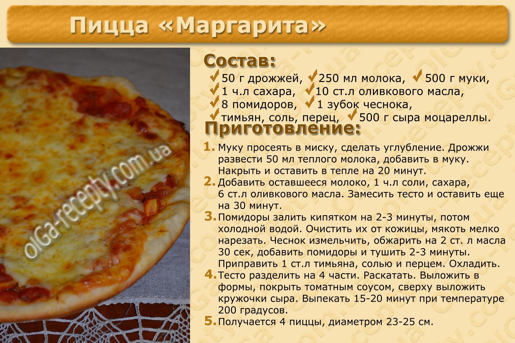 Рецепты для пиццы в домашних условиях