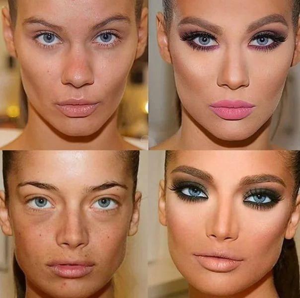 Наложить макияж на свое