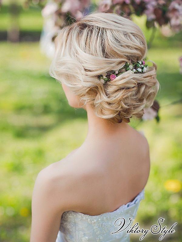 Прическа для свадьбы на короткие волосы