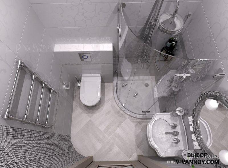 Дизайн раздельной ванной комнаты