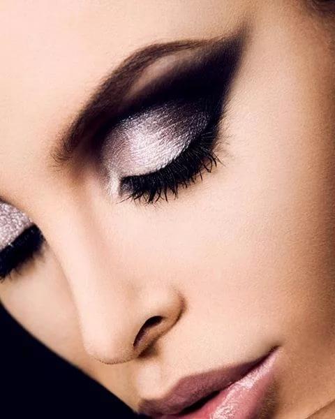 Чёрно-белый макияж глаз