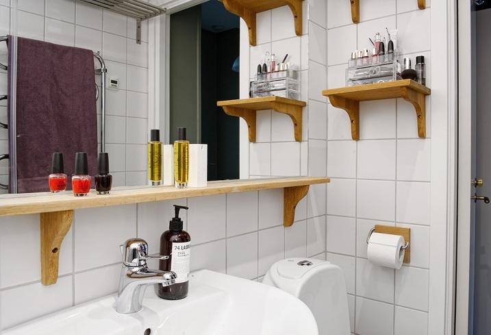 Деревянная полка в ванну своими руками