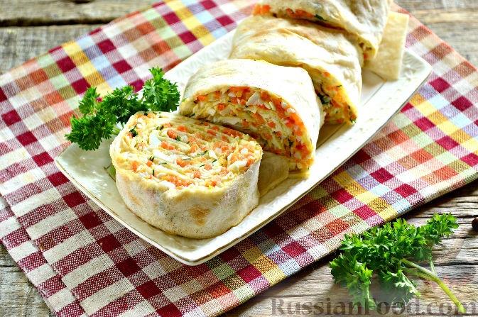 Рецепт из лаваша сыра и яйца