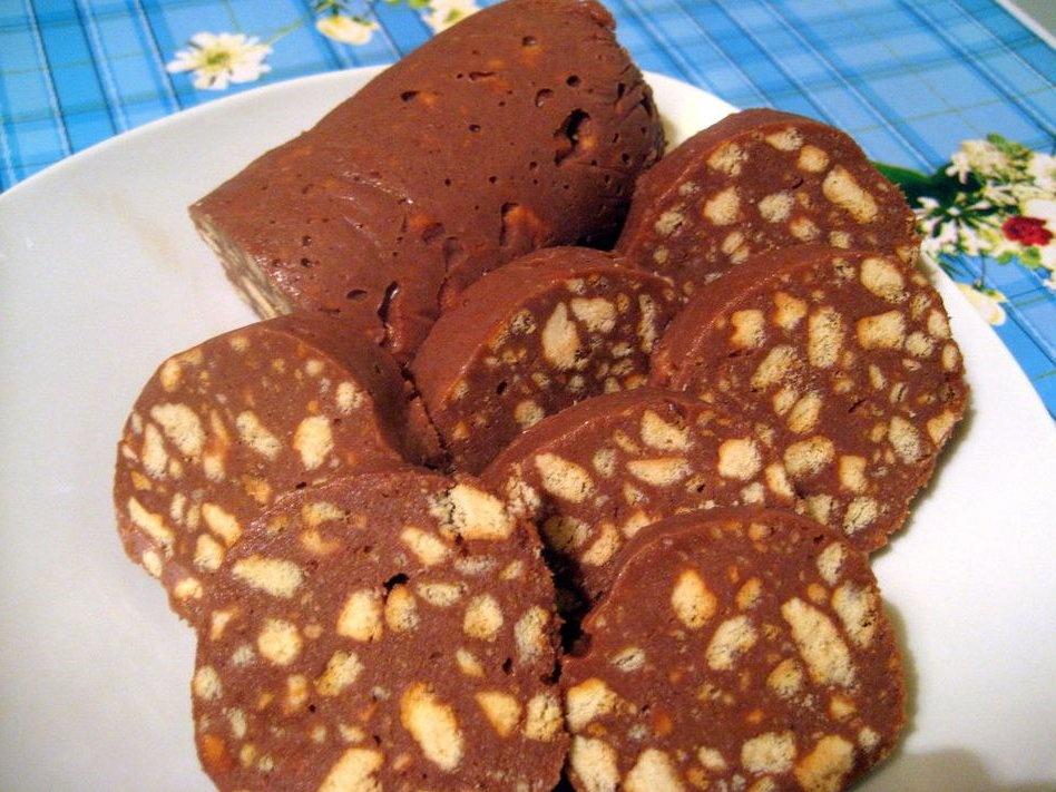 Печенье колбаска из печенья с фото пошагово