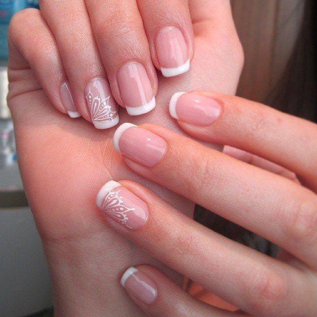 Фото маникюра на короткие ногти для невесты