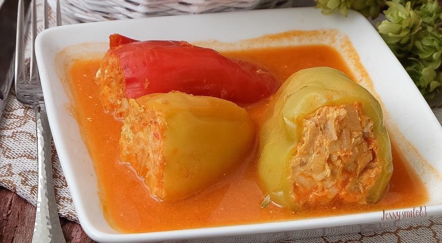 Пошаговый фото рецепт фаршированный перец