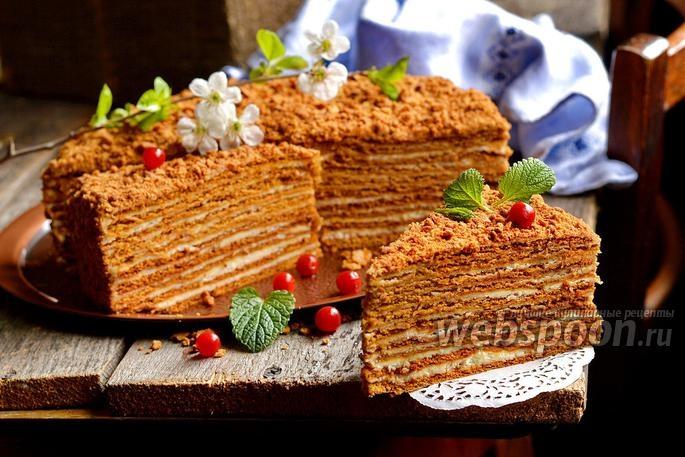 Пошаговый рецепт с торт рыжик
