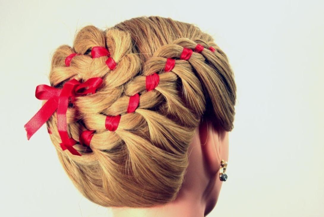 Причёски для средних волос с лентой